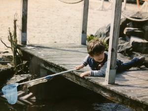 pêcheur de grenouilles